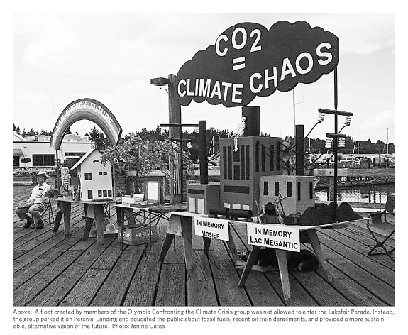 Climate chaos float