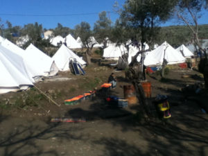 "Informal camp site, initially known as ""Afghan Hill."""