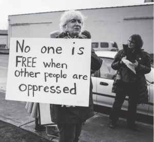 No one is free when other people are oppressed