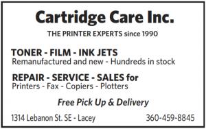 Cartridge Care Inc., 1314 Lebanon St SE, Lacey, (360)45908845