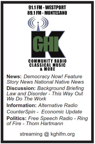 KGHI Community Radio, Classical and More, 91.1 FM/89.1 FM
